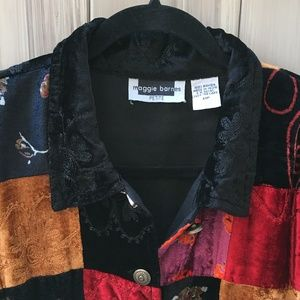 d37ef4ed35085 Maggie Barnes Jackets   Coats - Plush Patchwork Jacket